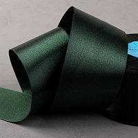 Лента атласная, 50 мм x 33 ± 2 м, цвет тёмно-изумрудный 036