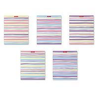 Тетрадь 48 листов в клетку Pastel Lines, обложка мелованный картон, блок офсет, МИКС (комплект из 5 шт.)