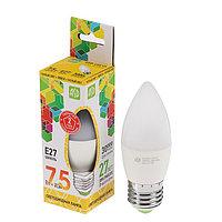 Лампа светодиодная ASD LED-СВЕЧА-standard, Е27, 7.5 Вт, 230 В, 3000 К, 675 Лм