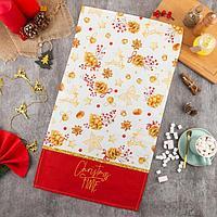 Полотенце 'Этель' Golden Christmas 40х73 см, 100 хл, саржа 190 гр/м2
