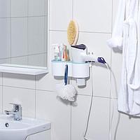 Подставка для ванных принадлежностей, 4 отсека, 22,5x9x8,5 см, цвет МИКС