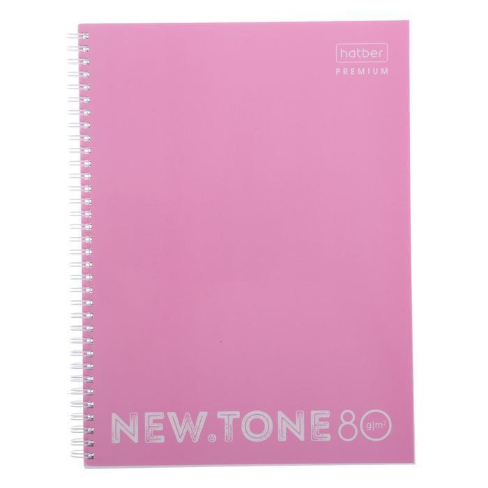 Тетрадь А4, 80 листов в клетку, на гребне NEWtone PASTEL ПИОН, обложка мелованный картон, глянцевая ламинация - фото 1