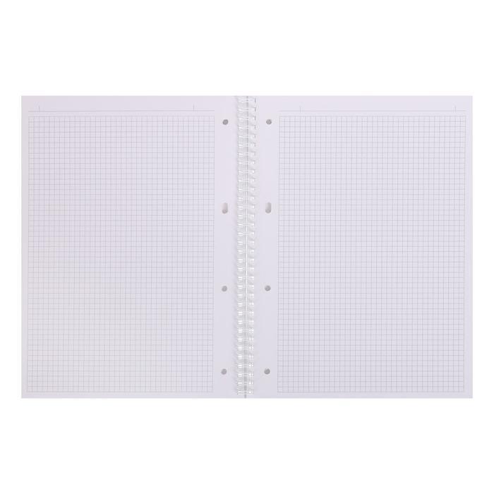 Тетрадь А4, 80 листов в клетку, на гребне NEWtone PASTEL ПИОН, обложка мелованный картон, глянцевая ламинация - фото 2
