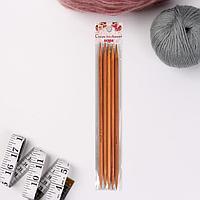 Спицы для вязания, чулочные, d 6 мм, 20 см, 5 шт
