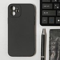 Чехол LuazON для телефона iPhone 12, Soft-touch силикон, черный
