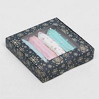 Коробка самосборная бесклеевая 'Праздничная ночь', 16 х 16 х 3 см (комплект из 10 шт.)