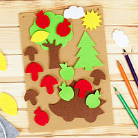 Игра для детей в дорогу из фетра 'Ёжик в лесу', 22 элемента + основа