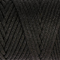 Шнур для вязания без сердечника 100 хлопок, ширина 3мм 100м/200гр (2105 черный)