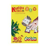 Картон цветной гофрированный А4, 5 листов, 5 цветов 'Каляка-Маляка'