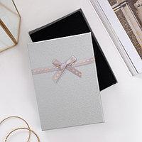 Коробочка подарочная под набор 'Влюбленность', 13*18 (размер полезной части 12,4х17,5см), цвет серебро