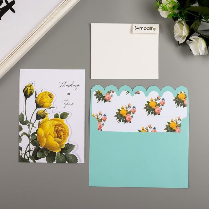 Поздравительная открытка и конверт American Crafts 'Rose Birthday' - фото 2