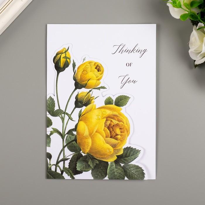 Поздравительная открытка и конверт American Crafts 'Rose Birthday' - фото 3