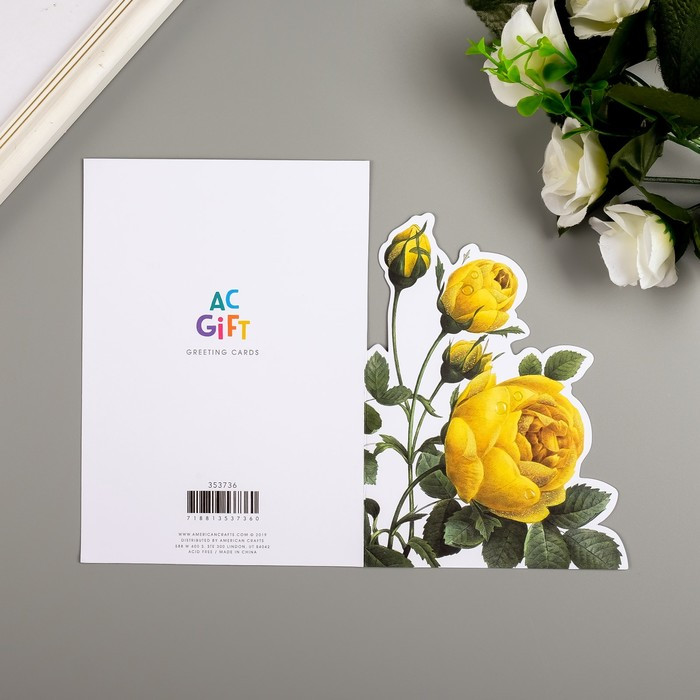 Поздравительная открытка и конверт American Crafts 'Rose Birthday' - фото 4