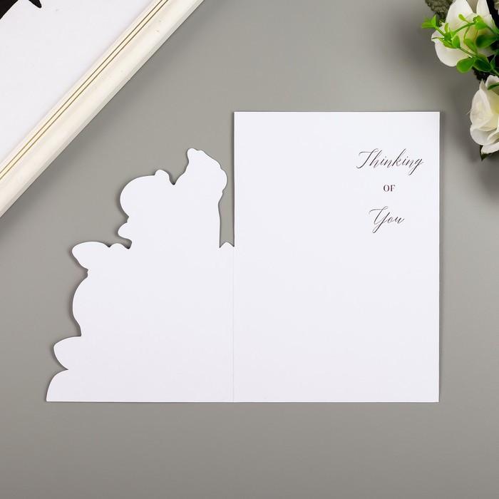Поздравительная открытка и конверт American Crafts 'Rose Birthday' - фото 5