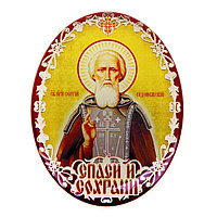 Икона в авто 'Святой преподобный Сергий Радонежский' с клеящейся основой