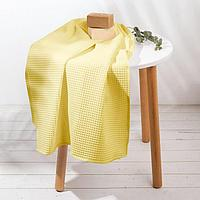 Полотенце 'Жёлтый' 70х150 см, 100 хлопок, ваф. полотно, 160 гр/м2