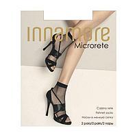Носки женские Innamore Microrete Calzino сетка (2 пары), цвет чёрны (nero)