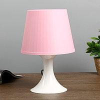 Настольная лампа 1340008 1хE14 15W розовый d19,5 высота 28см