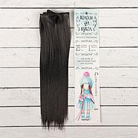 Волосы - тресс для кукол 'Прямые' длина волос 25 см, ширина 100 см, цвет 2В