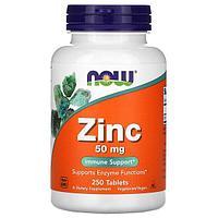 Цинк, 50 мг, 250 таблеток от Now Foods