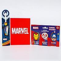 Подарочный набор 'Супергерою!', Мстители (блокнот в обложке софт-тач, магнитные закладки 3 шт., ручк