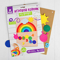 Игрушка из фетра с липучками 'Изучаем цвета и счет', лист основа + 25 элементов