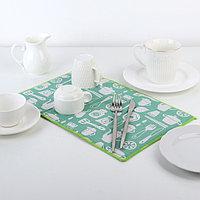 Салфетка для сушки посуды Доляна 'Хозяйственный', 25x40 см, лён