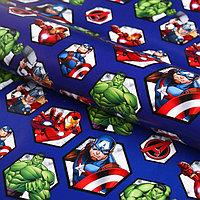 Бумага упаковочная 70х100 см, Мстители (комплект из 10 шт.)