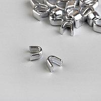 Верхний металлический ограничитель для молнии, 5, 1000 ± 20 шт, цвет никель