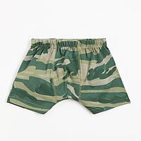 Трусы для мальчика, цвет зелёный/камуфляж, рост 104-110 см