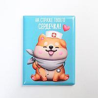 Обложка на ветеринарный паспорт для собаки 'на страже твоего сердечка !'