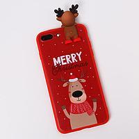 Чехол для телефона iPhone 7,8 plus 'Счастливого рождества', с персонажем, 7,7 х 15,8 см