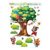 Наклейка виниловая 'Дом на дереве', интерьерная, 50 х 70 см