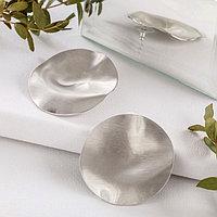 Серьги металл 'Атмосфера' соло, цвет серебро