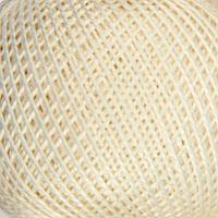Нитки вязальные 'Ирис' 150м/25гр 100 мерсеризованный хлопок цвет 0102 (комплект из 10 шт.)