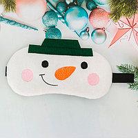 Маска для сна 'Снеговик'