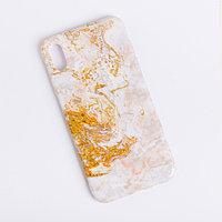 Чехол для телефона iPhone XS MAX 'Мрамор', 16 x 8 см