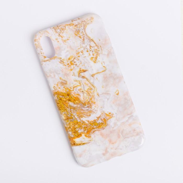 Чехол для телефона iPhone XS MAX 'Мрамор', 16 x 8 см - фото 1