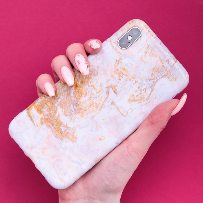 Чехол для телефона iPhone XS MAX 'Мрамор', 16 x 8 см - фото 3