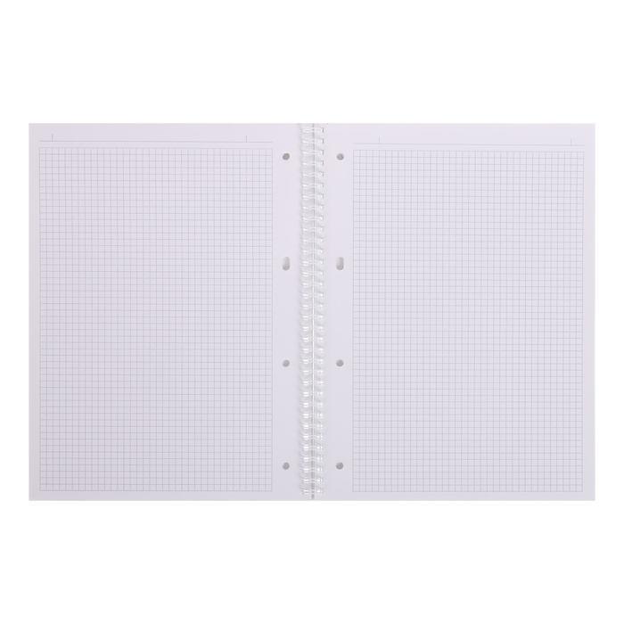 Тетрадь А4, 80 листов в клетку, на гребне NEWtone PASTEL Лаванда, обложка мелованный картон, глянцевая - фото 2