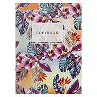 Тетрадь А4, 96 листов в клетку 'Паттерн. Цветы', обложка мелованный картон, блок 2, белизна 75
