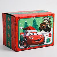 Коробка подарочная складная 'С Новым Годом', Тачки, 20 x 15 x 14 см