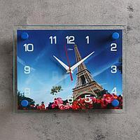 Часы настенные, серия Город, 'Эйфелева башня', 20х26 см, микс