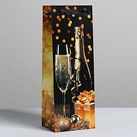 Пакет под бутылку 'Праздничная ночь', 13 x 36 x 10 см