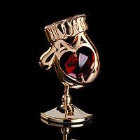 Сувенир с кристаллами Swarovski 'Варежка' 5,4х3,6 см