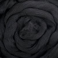 Гребенная лента 100 шерсть австралийский меринос 50гр (0140, черный)