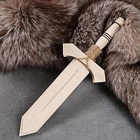 Сувенирное деревянное оружие 'Меч воина', 35 см, массив бука