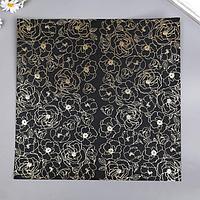 Лист бумаги с фольгированием 'Golden Pion Black' 30,5х30,5 см (комплект из 10 шт.)