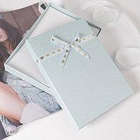 Коробочка подарочная под набор 'Влюбленность', 13*18 (размер полезной части 12,4х17,5см), цвет голубой