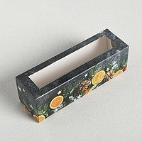 Коробочка для макарун 'Мандариновое настроение', 18 x 5.5 x 5.5 см (комплект из 5 шт.)